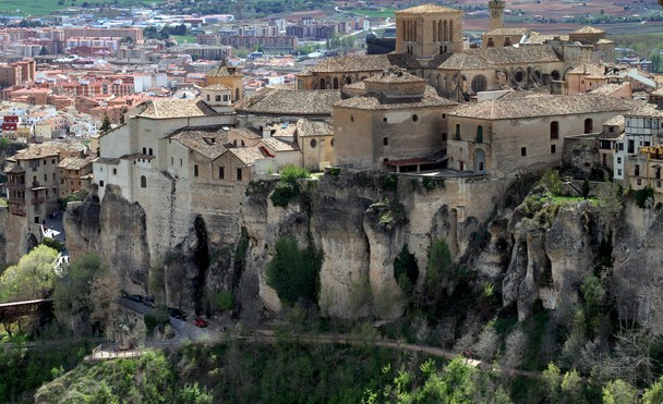 Cuenca, Spain. Medieval Town With U0027hanging Housesu0027 Overlooking A  Picturesque Gorge