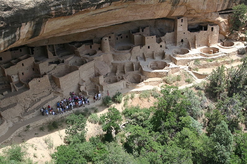 Mesa Verde  Colorado  USA  Anasazi cliff dwellings dating back to     AC